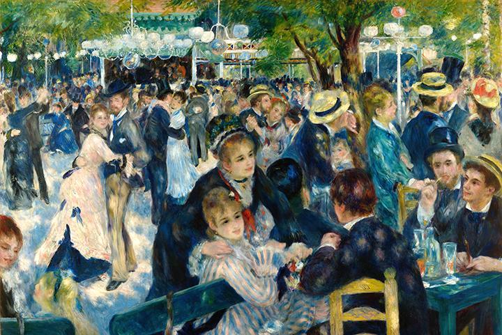Ball at the Moulin De La Galette by Pierre-Auguste Renoir Fine Art