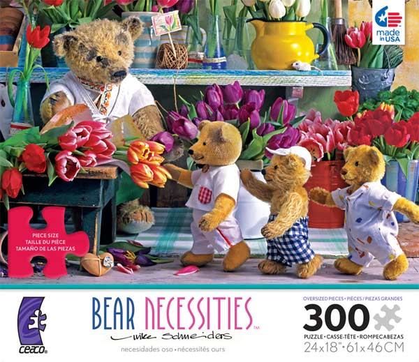 Bear Necessities - Flower Shoppe Bears Jigsaw Puzzle