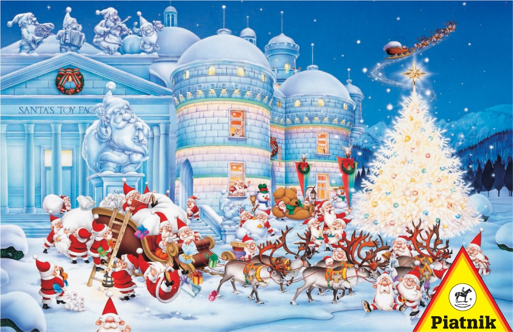 Toy Factory Santa Jigsaw Puzzle
