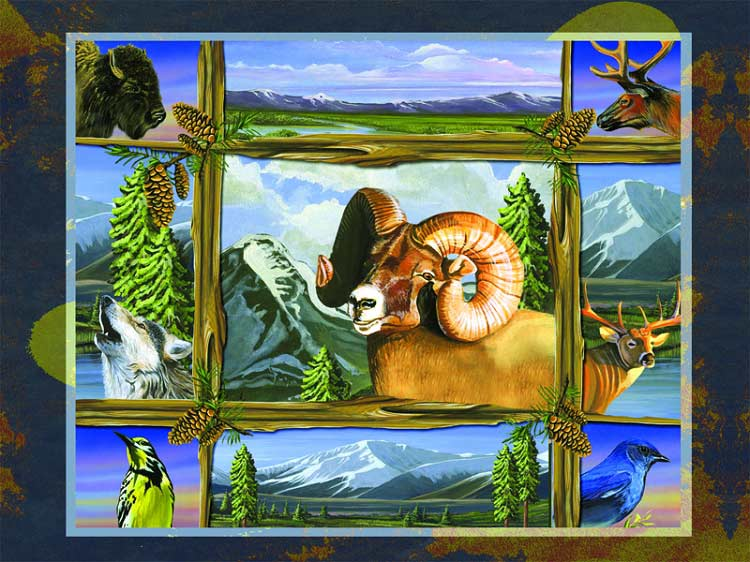 Big Sky Country Wildlife Jigsaw Puzzle