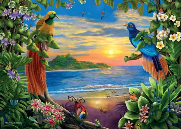 Birds of Paradise Beach Jigsaw Puzzle