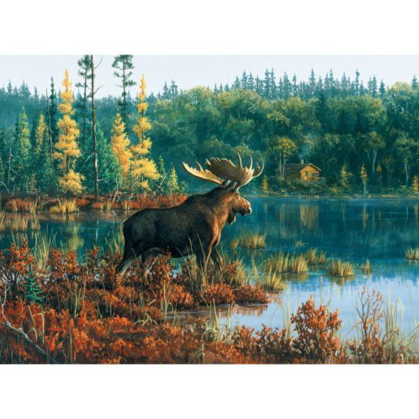 Black Bay Moose Forest Jigsaw Puzzle
