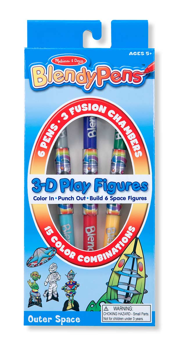 BlendyPens 3D Play Figures - Outer Space Space