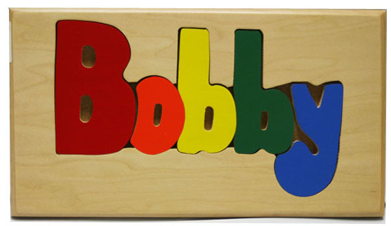 Bobby Wooden Name Puzzle