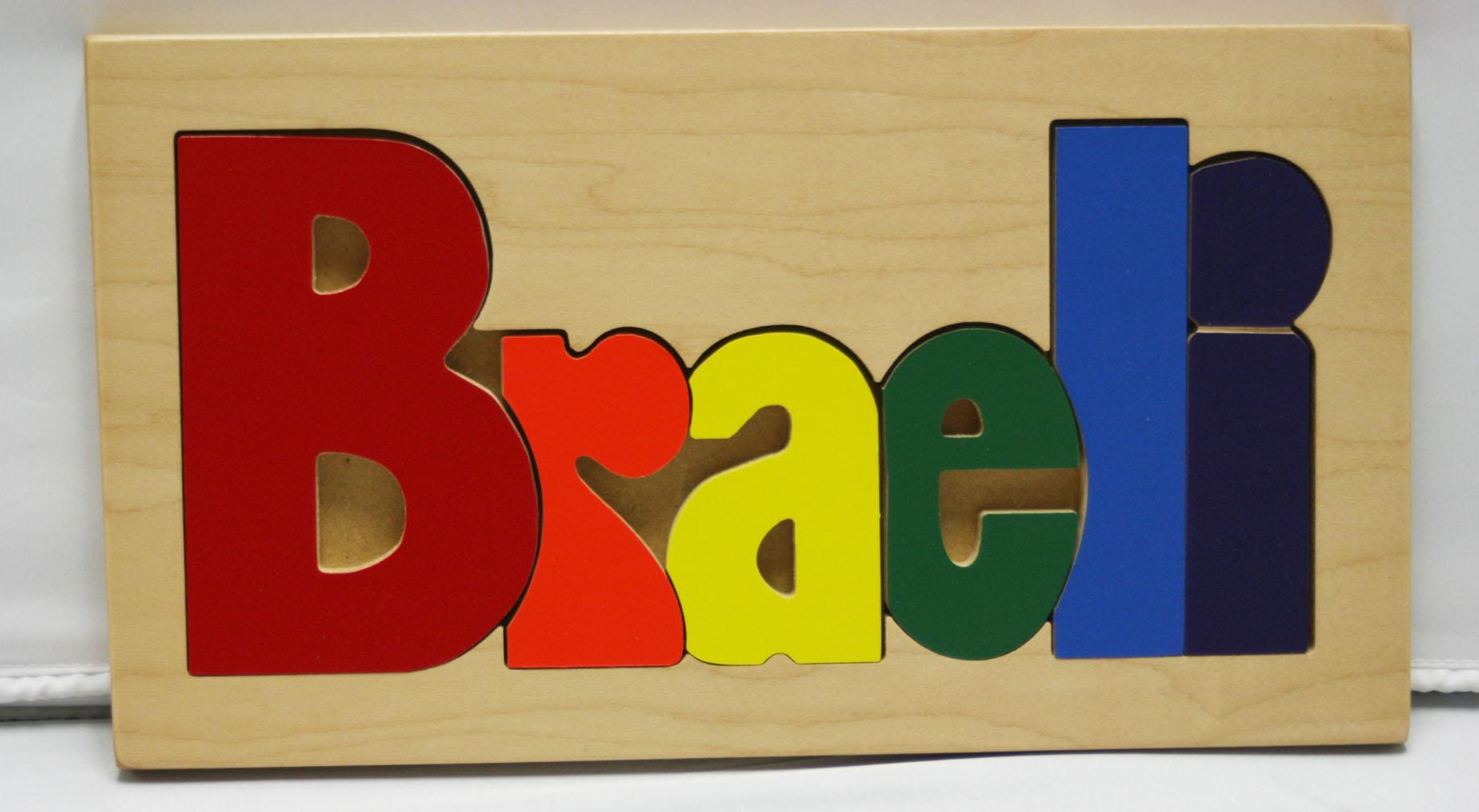 Braeli Wooden Name Puzzle