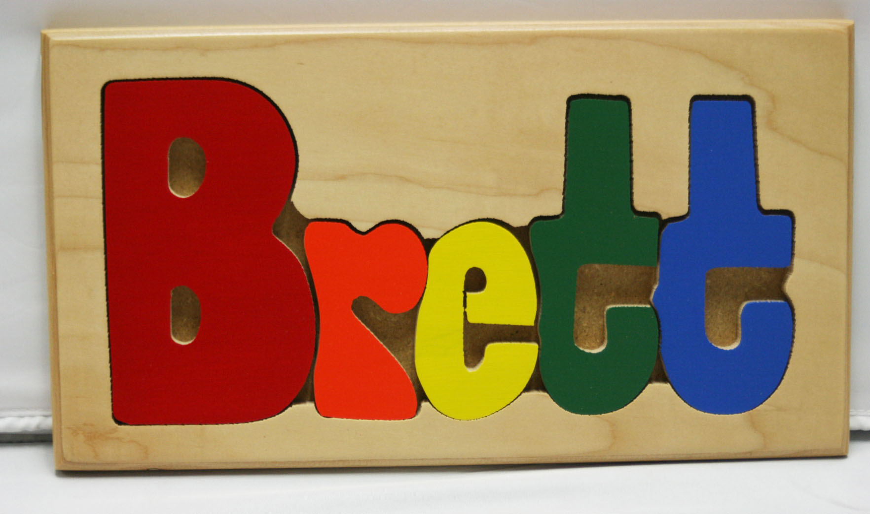 Brett Wooden Name Puzzle