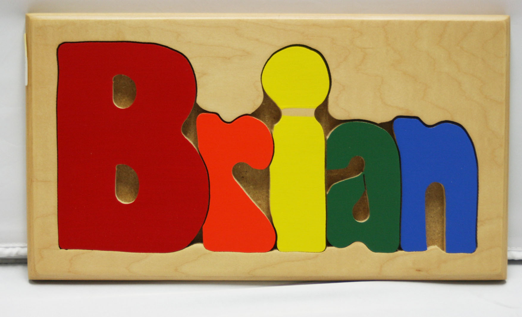 Brian Wooden Name Puzzle