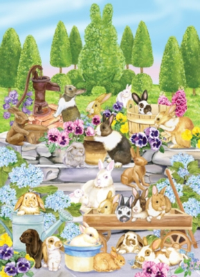 Frisky Friends -Bunny Buddies Other Animals Jigsaw Puzzle