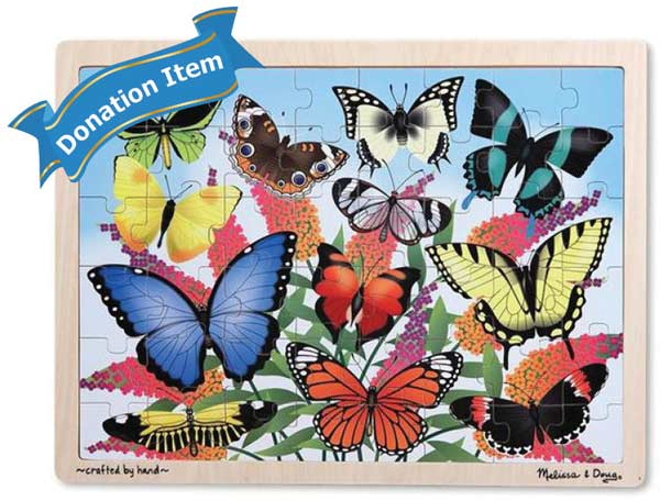 Life Skills - Butterfly Garden Butterflies and Insects Jigsaw Puzzle