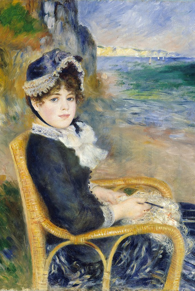 By the Seashore by Pierre-Auguste Renoir Fine Art
