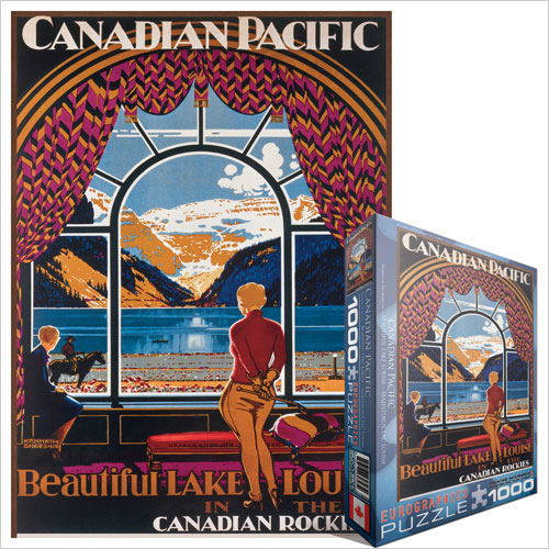 Beautiful Lake Louise Mountains Jigsaw Puzzle