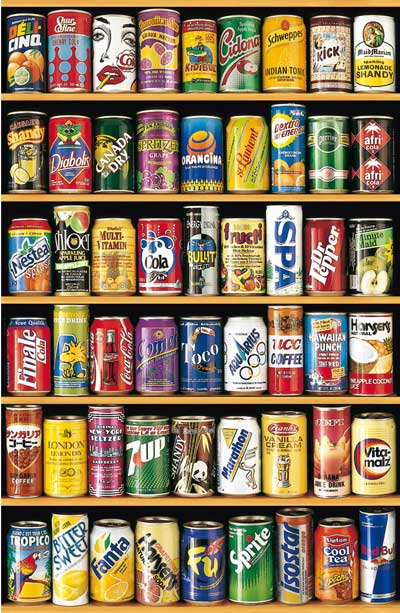 Cans - Miniature Americana Jigsaw Puzzle