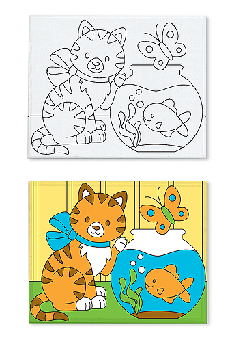 Canvas Creations - Kitten Cats Arts and Crafts