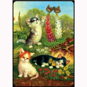 Bridge Playing Cards - Cats & Butterflies Cats