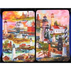 Bridge Playing Card Set - Lighthouses Lighthouses Playing Cards