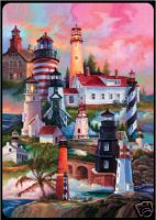 Bridge Playing Cards - Lighthouses Lighthouses Playing Cards