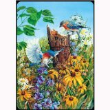 Bridge Playing Cards - Nesting Bluebirds Garden Playing Cards