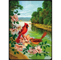 Bridge Playing Cards - Red Birds Birds Playing Cards