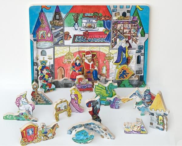 Flipzles Castle Puzzle Castles Wooden Jigsaw Puzzle