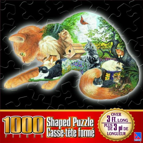 Cat Shaped Puzzle Cats Jigsaw Puzzle