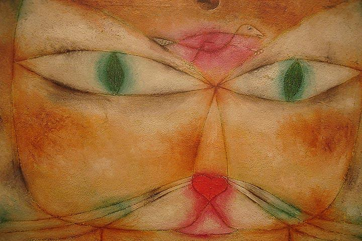 Cat and Bird by Paul Klee Fine Art