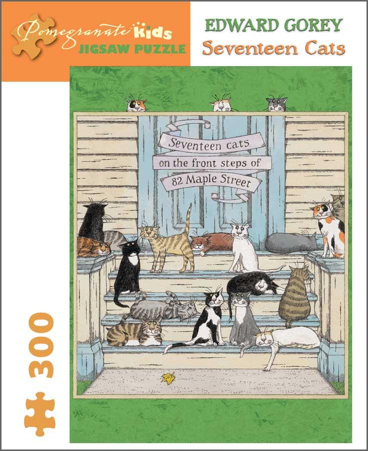 Seventeen Cats Cats Jigsaw Puzzle