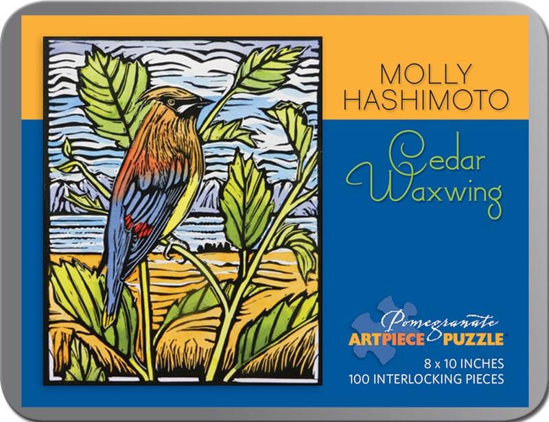 Cedar Waxing (Mini) Birds Jigsaw Puzzle