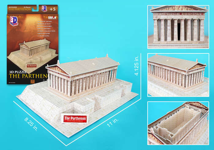 3D Puzzle - The Parthenon Greece 3D Puzzle
