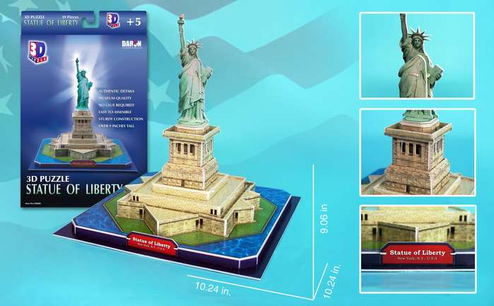 Statue of Liberty Landmarks / Monuments 3D Puzzle