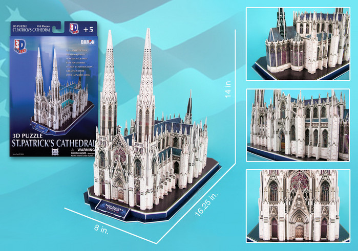 St. Patrick's Cathedral Churches 3D Puzzle