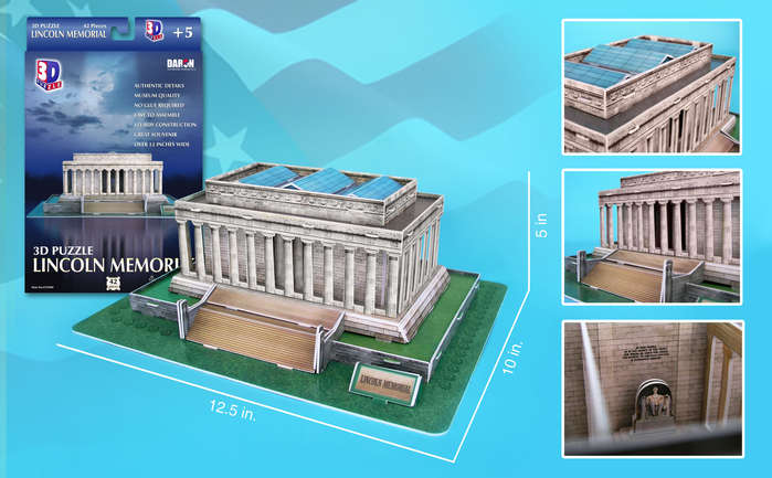 Lincoln Memorial Landmarks / Monuments Jigsaw Puzzle