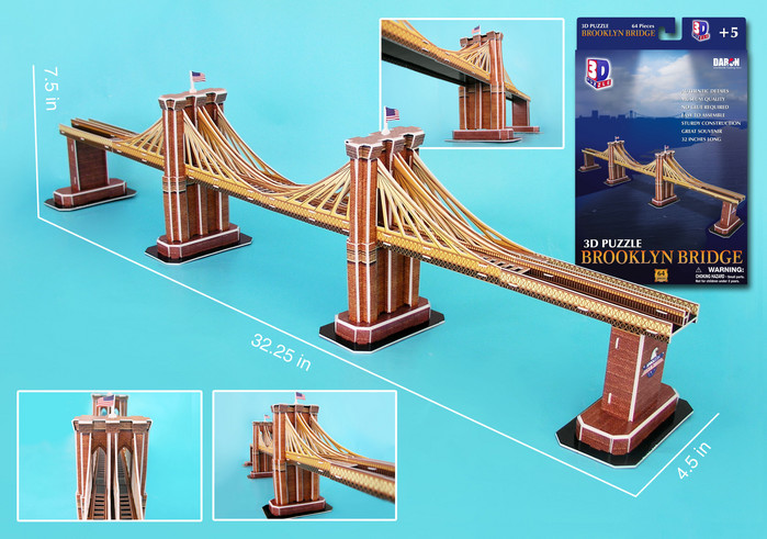 Brooklyn Bridge Landmarks / Monuments Jigsaw Puzzle