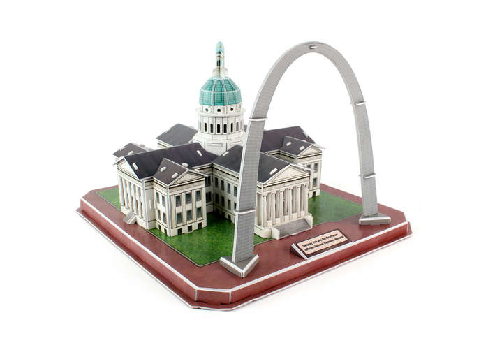 Gateway Arch & Old Courthouse Jefferson National Exp. Memorial Landmarks / Monuments Jigsaw Puzzle
