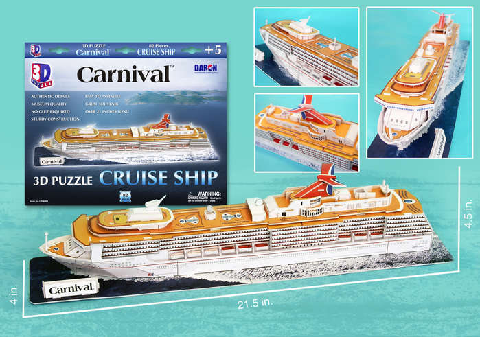 3D Puzzle - Carnival Cruise Ship Boats 3D Puzzle