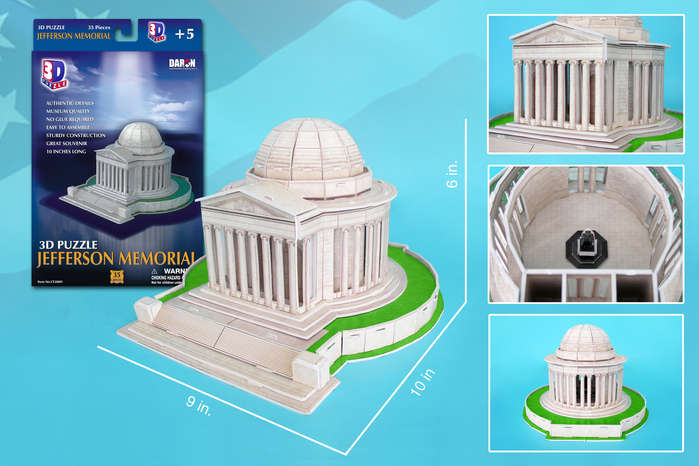 Jefferson National Memorial Landmarks / Monuments Jigsaw Puzzle