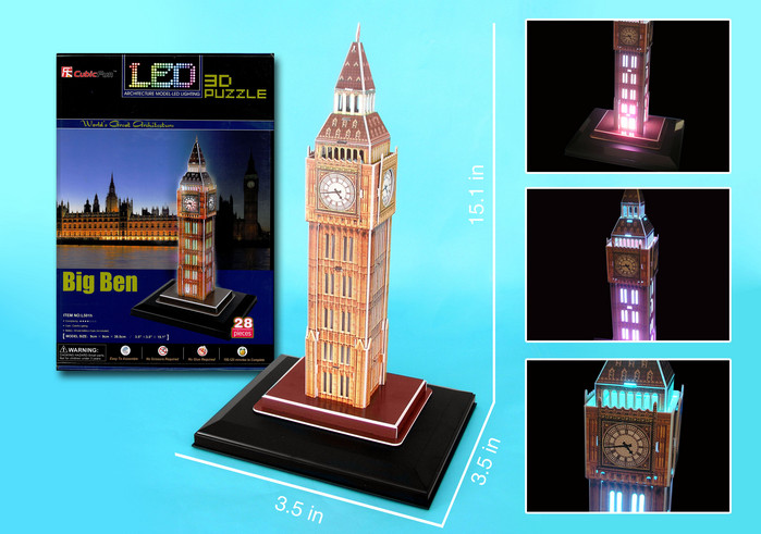 Big Ben with LED lighting Landmarks / Monuments Jigsaw Puzzle