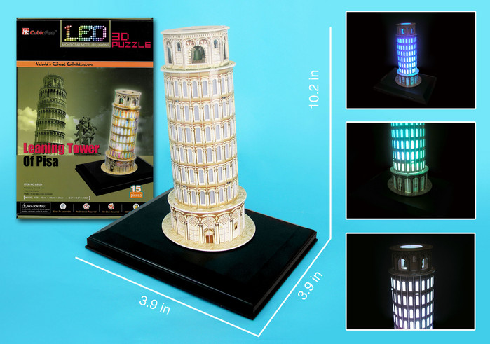 Leaning Tower of Pisa with LED lighting Landmarks / Monuments Jigsaw Puzzle