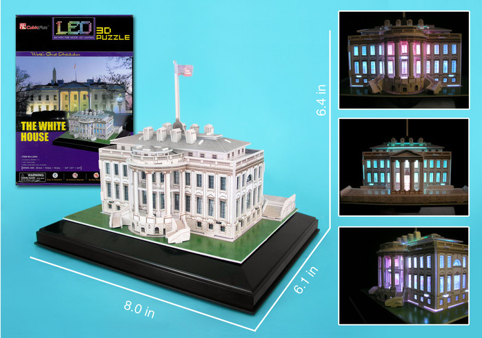 3D Puzzle - White House with LED lighting Landmarks 3D Puzzle