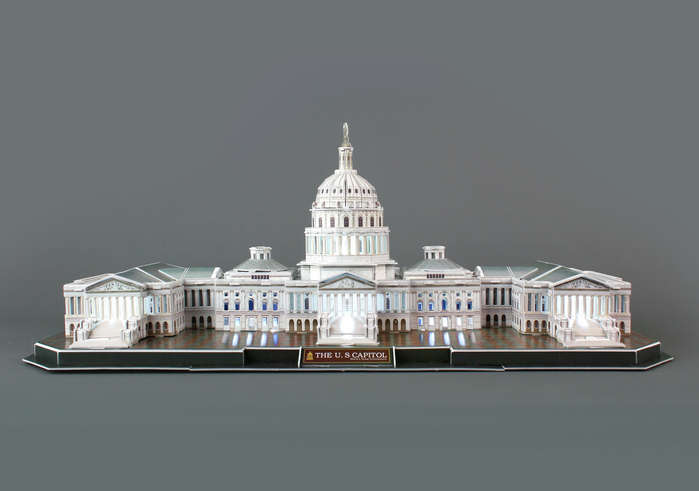 The Capitol Hill with LED Lighting United States Jigsaw Puzzle