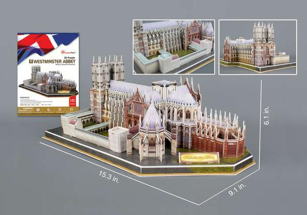 3D Puzzle - Westminster Abbey Churches 3D Puzzle