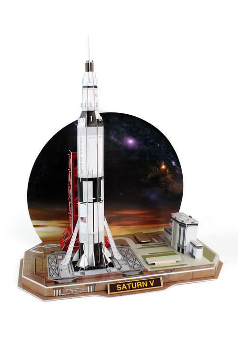 Saturn V Rocket Space Jigsaw Puzzle