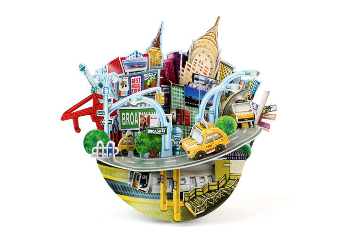 New York Cityscape Bank New York 3D Puzzle