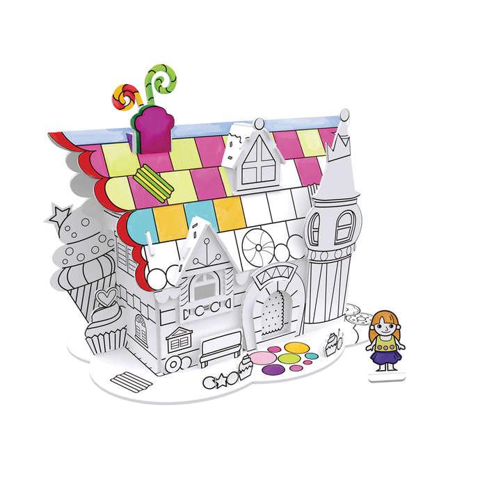 Desert House 3D Coloring Puzzle Cottage / Cabin Jigsaw Puzzle