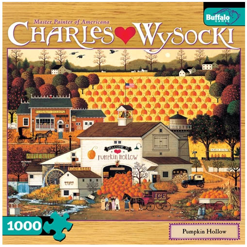 Charles Wysocki - Pumpkin Hollow Fall Jigsaw Puzzle