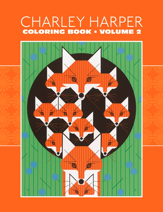 charley harper volume 2 coloring book animals coloring book