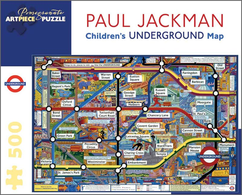 Children's Underground Map Maps / Geography Jigsaw Puzzle