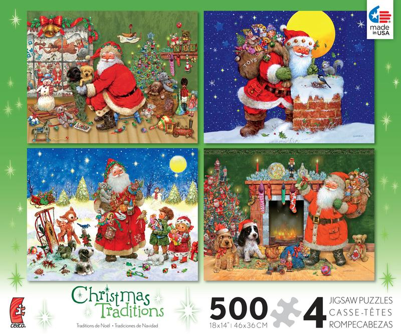 Christmas Traditions 4 in 1 Multi-Pack Christmas Jigsaw Puzzle