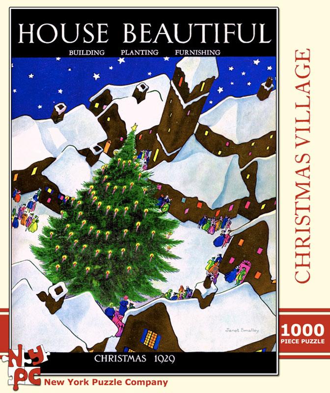 House Beautiful - Christmas Village Christmas Jigsaw Puzzle