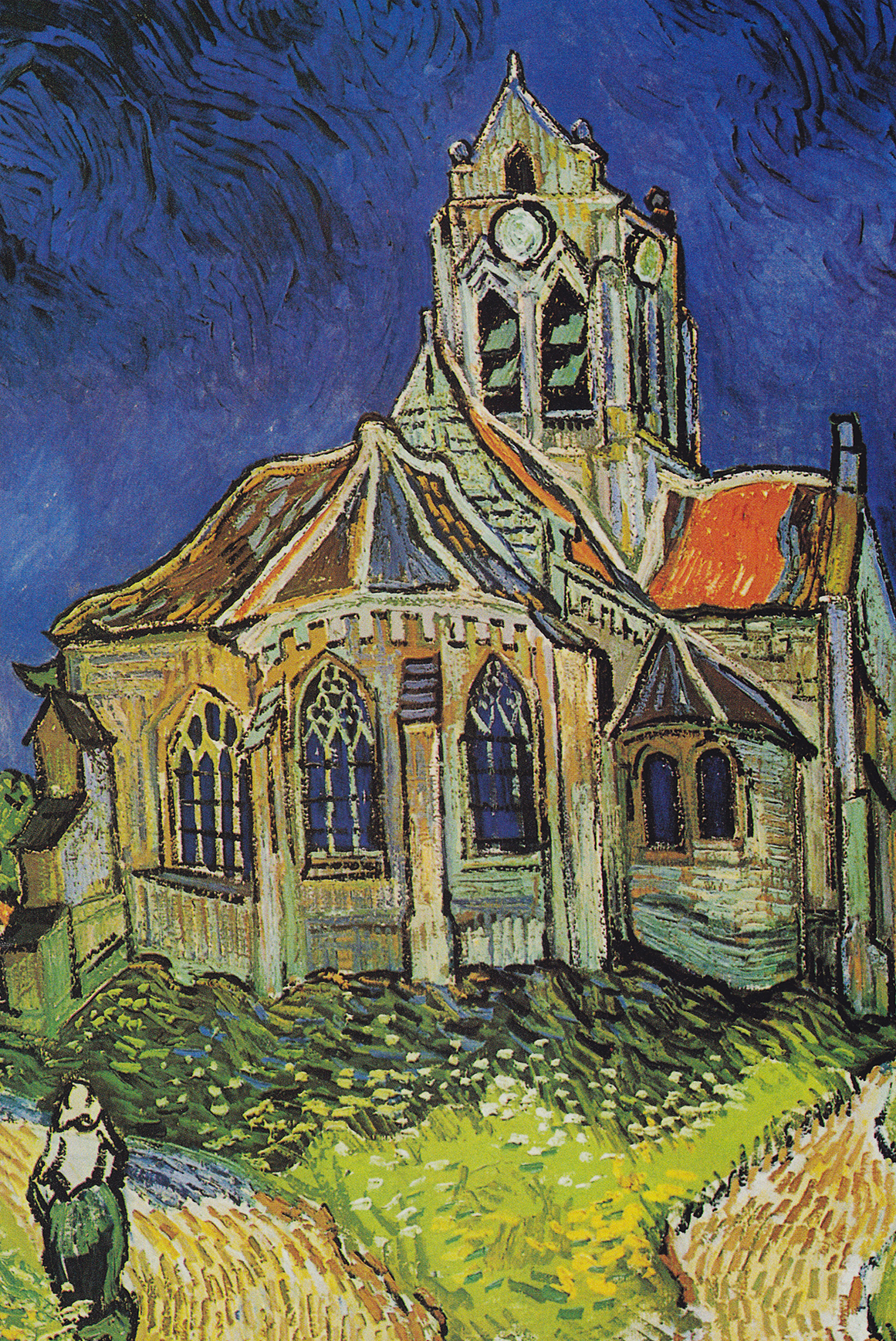 The Church of Auvers by Van Gogh Fine Art