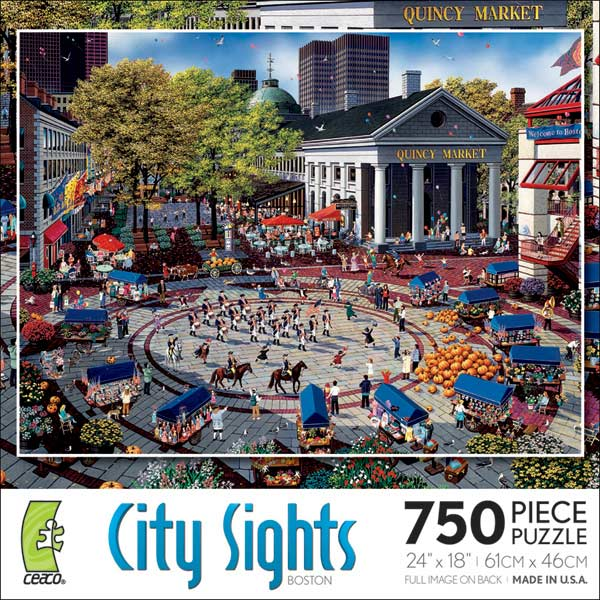 City Sights - Boston Boston Jigsaw Puzzle
